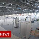 Timelapse of new London coronavirus hospital – BBC News
