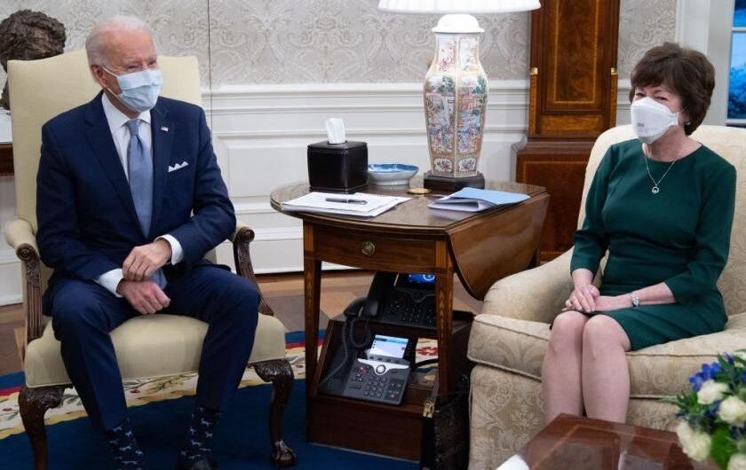 Biden, Senate Republicans spend 2 hours discussing dueling COVID-19 relief proposals