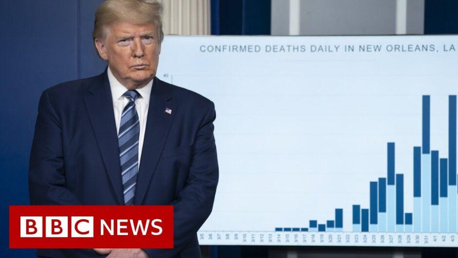 Coronavirus: Trump sees 'light at end of tunnel' in virus fight – BBC News