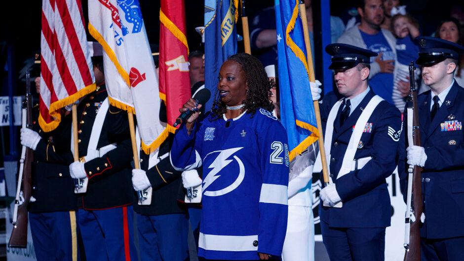 Tampa Bay Lightning national anthem singer, an Air Force vet, hospitalized with coronavirus despite vaccine